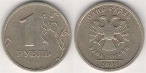 Ценные монеты современной России (1 рубль 2003)